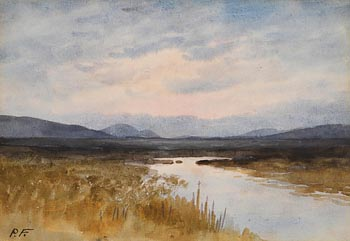 William Percy French, Evening Landscape, West of Ireland at Morgan O'Driscoll Art Auctions