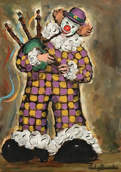 Gladys MacCabe, Clown Playing Bagpipes at Morgan O'Driscoll Art Auctions