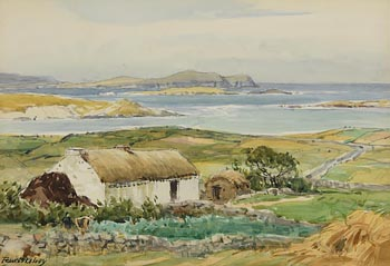 Frank McKelvey, West of Ireland Homestead at Morgan O'Driscoll Art Auctions