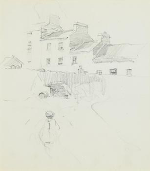 Walter Frederick Osborne, A View of Roundstone from the Pier (1897)Another View of  Roundstone with Monastery verso at Morgan O'Driscoll Art Auctions
