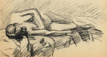 Roderic O'Conor, Reclining Female Nude at Morgan O'Driscoll Art Auctions