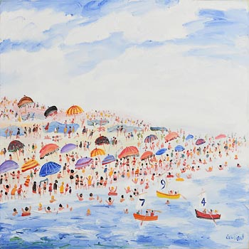 Simeon Stafford, Sunny Day, Cornwall at Morgan O'Driscoll Art Auctions