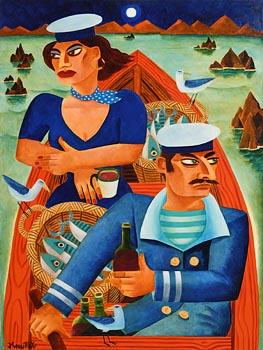 Graham Knuttel, Moonlight Sail at Morgan O'Driscoll Art Auctions