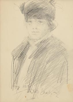 John Butler Yeats, Elegant Lady (1916) at Morgan O'Driscoll Art Auctions