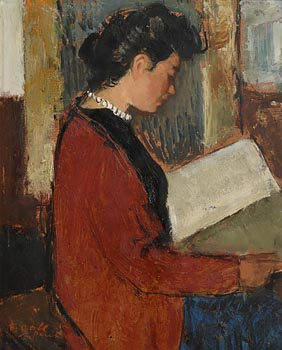 Francois Gall, Girl Reading at Morgan O'Driscoll Art Auctions