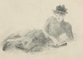 John Butler Yeats, Reclining Lady at Morgan O'Driscoll Art Auctions