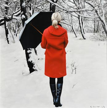 Gerard M. Burns, Peaceful Winter Landscape at Morgan O'Driscoll Art Auctions