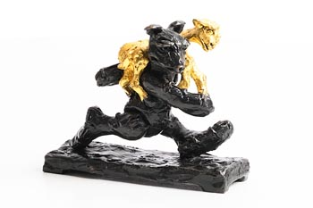 Patrick O'Reilly, Bear with Golden Goat at Morgan O'Driscoll Art Auctions