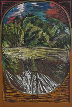 Brian Bourke, Head in Landscape (No.2) (1970) at Morgan O'Driscoll Art Auctions