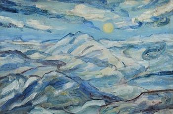 Grace Henry, Blue Mountain Landscape at Morgan O'Driscoll Art Auctions