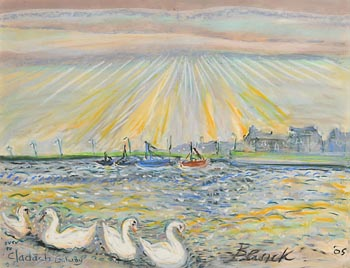 Pauline Bewick, Over to Claddagh, Galway (2005) at Morgan O'Driscoll Art Auctions