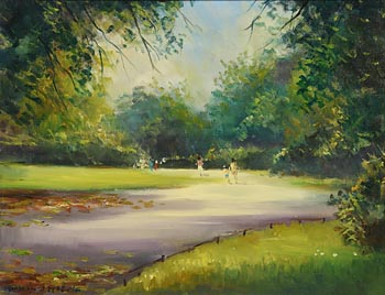 Norman J. McCaig, St. Stephen's Green, Dublin at Morgan O'Driscoll Art Auctions