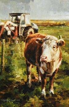 Mark O'Neill, White Head and Tractor (2006) at Morgan O'Driscoll Art Auctions