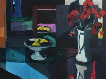 Brian Ballard, Still Life with Poppies (1989) at Morgan O'Driscoll Art Auctions
