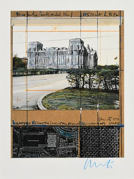 Christo, Christo and Jeanne-Claude, Reichstag, Berlin (1971-95) at Morgan O'Driscoll Art Auctions