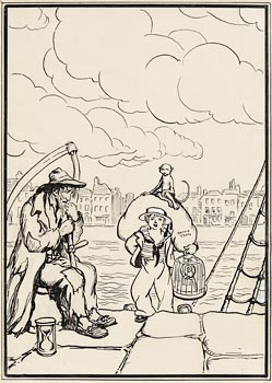 Jack Butler Yeats, Dublin Quays (1914) at Morgan O'Driscoll Art Auctions