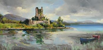 Kenneth Webb, Ross Castle, Killarney at Morgan O'Driscoll Art Auctions