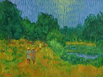 Desmond Carrick, Woodland Walk at Morgan O'Driscoll Art Auctions