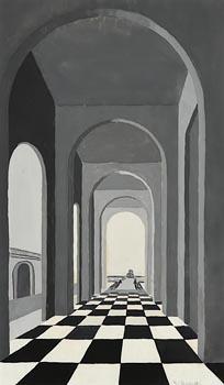 Mainie Jellett, Fountain and Loggia (c. 1935) at Morgan O'Driscoll Art Auctions