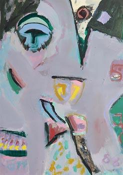 Tony O'Malley, Bahamas Painting with Self (I) (1988) at Morgan O'Driscoll Art Auctions