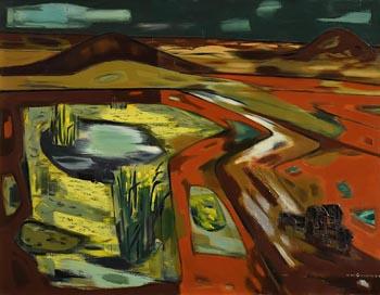 Norah Allison McGuinness, Yellow Flags, Sligo at Morgan O'Driscoll Art Auctions