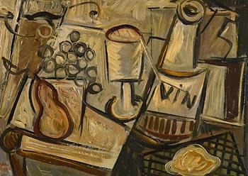 Nano Reid, Still Life - Wine and Fruit at Morgan O'Driscoll Art Auctions