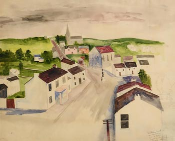 William Scott, View of a Village 1941 at Morgan O'Driscoll Art Auctions