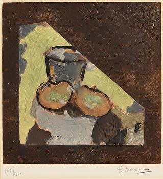Georges Braque, Nature Morte Oblique (Angled Still Life) (c.1950) at Morgan O'Driscoll Art Auctions