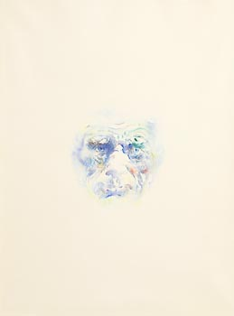 Louis Le Brocquy, Study Towards an Image of Samuel Beckett (1979) (Opus W490) at Morgan O'Driscoll Art Auctions