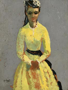 Daniel O'Neill, The Yellow Dress at Morgan O'Driscoll Art Auctions