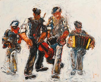 John Brian Vallely, The Dancing Musicians (1999) at Morgan O'Driscoll Art Auctions