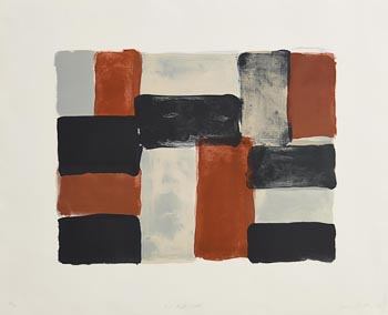 Sean Scully, Paris Red Wall (2004) at Morgan O'Driscoll Art Auctions