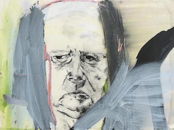 Brian Maguire, Portrait of Anthony Cronin at Morgan O'Driscoll Art Auctions