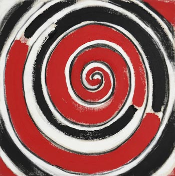 Sir Terry Frost, Red, Black and White Spiral for 00 (2000) at Morgan O'Driscoll Art Auctions