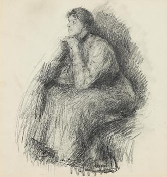 John Butler Yeats, Portrait of Mary Elizabeth Walker (1906) at Morgan O'Driscoll Art Auctions
