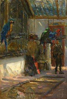 Walter Frederick Osborne, The Parrott House, Dublin Zoo (c.1890) at Morgan O'Driscoll Art Auctions
