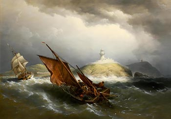 Richard Brydges Beechey, Entrance to Cork Harbour (1874-5) at Morgan O'Driscoll Art Auctions