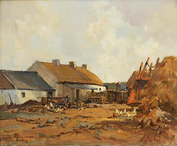 Maurice Canning Wilks, Co Down Homestead at Morgan O'Driscoll Art Auctions