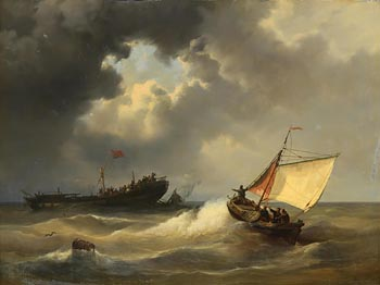 Hendrik Adolf Schaep, The Rescue at Morgan O'Driscoll Art Auctions