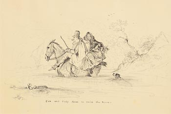 Daniel MacDonald, Con and Judy About to Swim the River (1843) at Morgan O'Driscoll Art Auctions