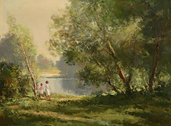 Maurice Canning Wilks, Summer's Day at Morgan O'Driscoll Art Auctions