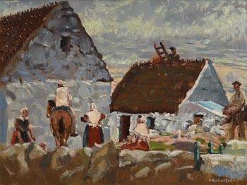Maurice Joseph MacGonigal, Farmyard, Inverin, Connemara at Morgan O'Driscoll Art Auctions
