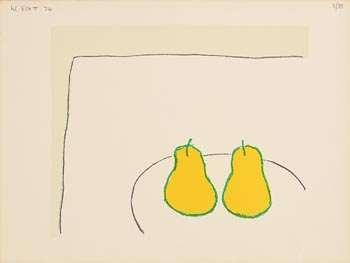 William Scott, Lemon Pears (1974) at Morgan O'Driscoll Art Auctions