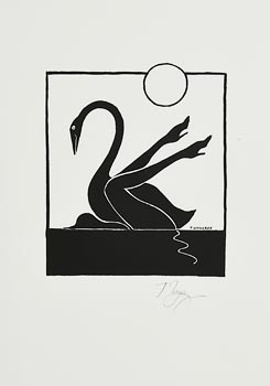 Tomi Ungerer, Leda and the Swan at Morgan O'Driscoll Art Auctions