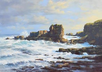 Annemarie Bourke, Meenogahane Pier, Ballybunion, Kerry at Morgan O'Driscoll Art Auctions