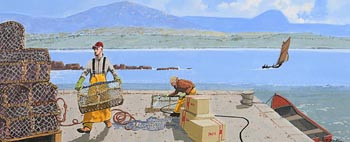 John Francis Skelton, Lobster Pots, Connemara at Morgan O'Driscoll Art Auctions