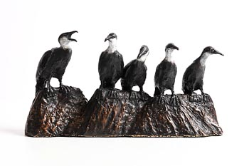 Colm J. Brennan, Sunning Cormorants at Morgan O'Driscoll Art Auctions