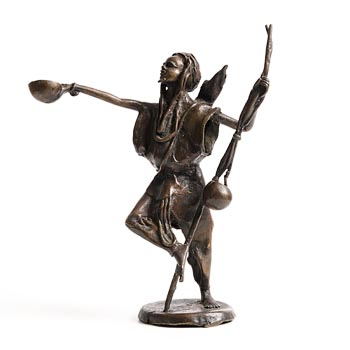 20th Century African School, Tribesman at Morgan O'Driscoll Art Auctions