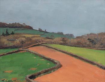 Tom Carr HRHA HRUA ARWS (1909-1999), Forecourt (1945) at Morgan O'Driscoll Art Auctions