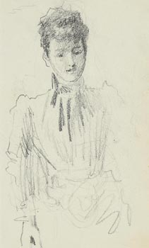 John Butler Yeats, Study of a Young Lady at Morgan O'Driscoll Art Auctions